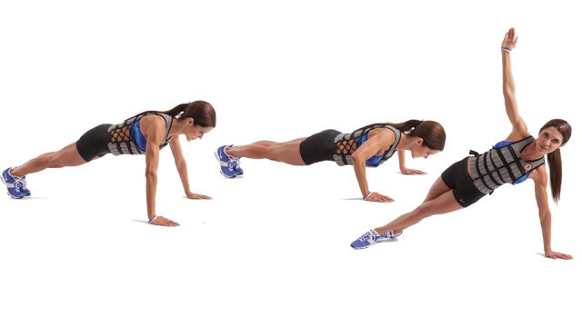 Pushups with twist