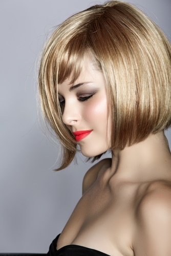 Bob haircut to look younger