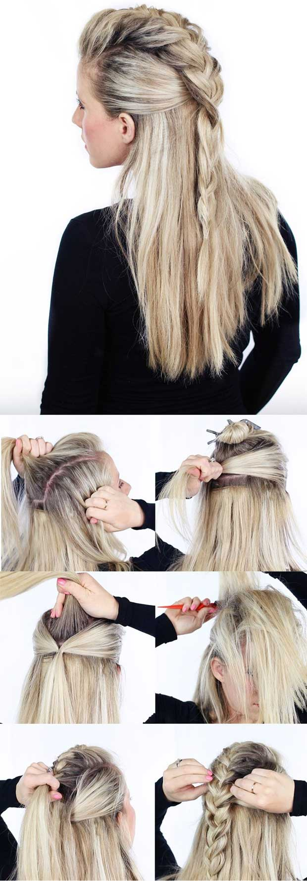 Do your own French braid