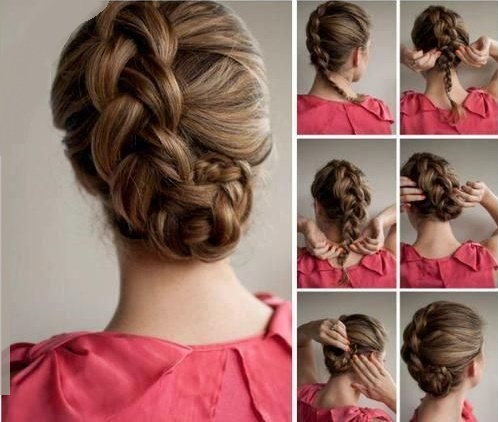 This hairstyle uses a soft and simple French braid