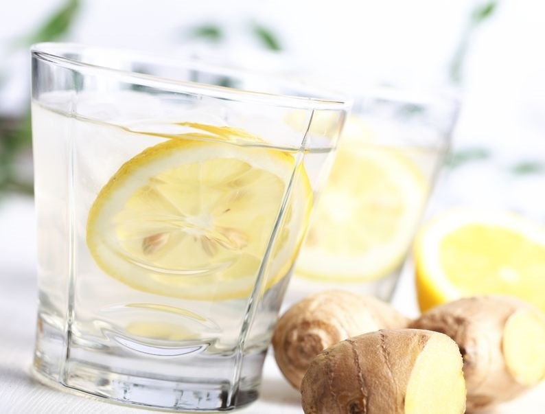 Ginger lemon water for weight loss diets